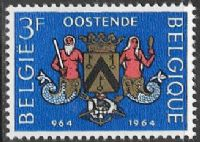 Belgium SG1889 1964 Millenary of Ostend 3f mounted mint